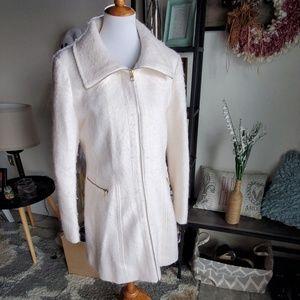 Jessica Simpson white dress coat